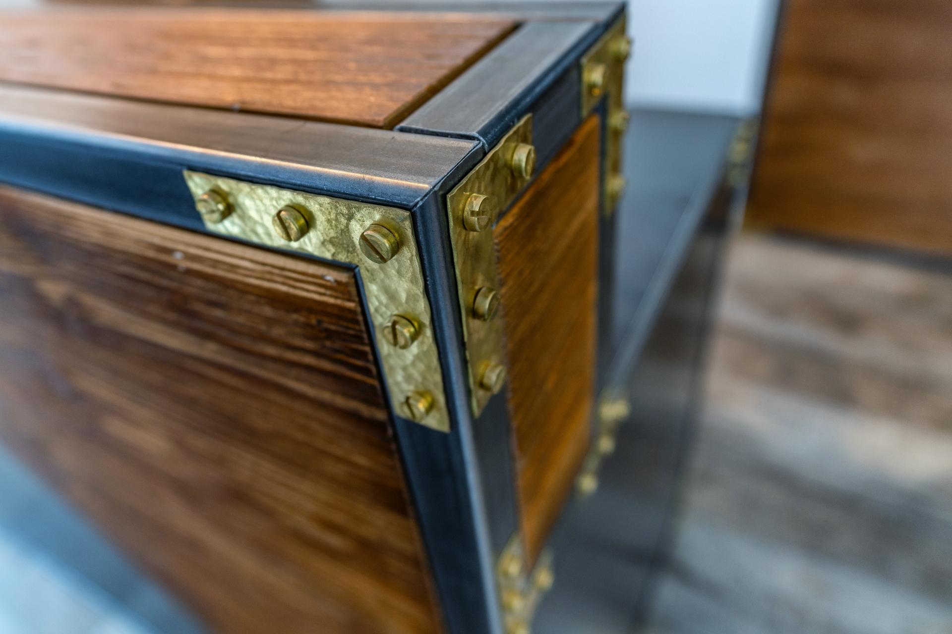 Rezeption Ecke Detail der Möbelschlosserei VINDU Stylez
